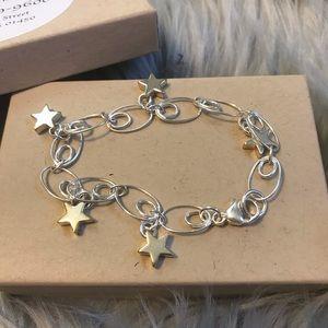 Jewelry - 5 Star Bracelet Sterling Silver